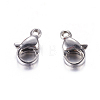 304 Stainless Steel Lobster Claw Clasps Jewelry Making FindingsSTAS-AB10-1-2