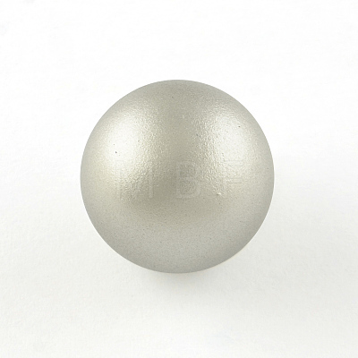 No Hole Spray Painted Brass Round Bell BeadsKKB-R001-16mm-08-1