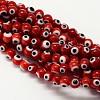 Handmade Evil Eye Lampwork Round Bead StrandsLAMP-L055-8mm-10-1