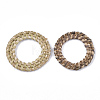 Handmade Reed Cane/Rattan Woven Linking RingsWOVE-T006-067-2