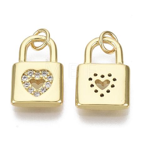 Valentine's Day Brass Micro Pave Cubic Zirconia CharmsZIRC-S067-016-NF-1