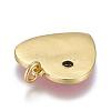 Brass Micro Pave Cubic Zirconia PendantsKK-M205-12B-02G-2