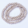 Electroplate Glass Beads Strands EGLA-A034-P4mm-A17-2