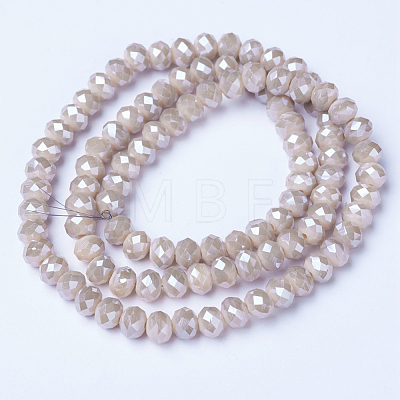 Electroplate Glass Beads Strands EGLA-A034-P4mm-A17-1