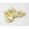 Brass Rhinestone Spacer Beads RB-A006-10MM-G-1