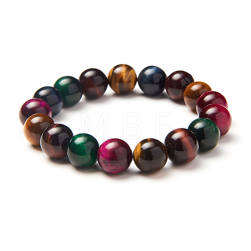 SUNNYCLUE Natural Tiger Eye Round Beads Stretch BraceletsBJEW-PH0001-10mm-09-1