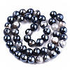 Electroplate Natural Agate Beads StrandsG-T131-54A-2