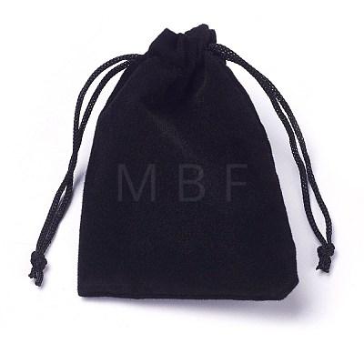 Velvet Cloth Drawstring BagsTP-C001-50x70mm-4-1