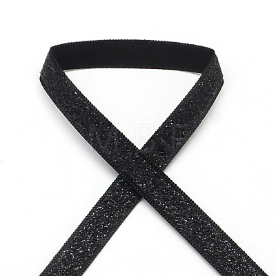 Sparkle Polyester Satin RibbonsSRIB-R012-3.8cm-09-1