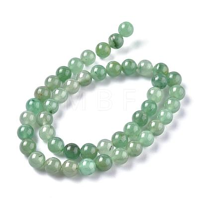 Natural Green Aventurine Beads StrandsG-Q462-8mm-20A-1