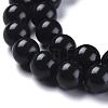 Natural Black Stone Beads StrandsG-I288-A02-8mm-2