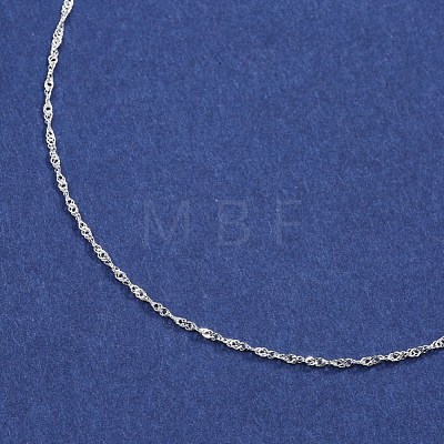 925 Sterling Silver Double Link Chain NecklacesNJEW-BB35180-D-16-1