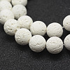 Unwaxed Natural Lava Beads Strands X-G-J367-01-8mm-3