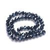 Faceted Rondelle Glass Beads StrandsGR8MMY-27L-2