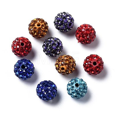 Pave Disco Ball BeadsRB-H258-10MM-M-1