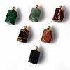 Natural & Synthetic Mixed Gemstone Openable Perfume Bottle PendantsG-R478-001-G-3