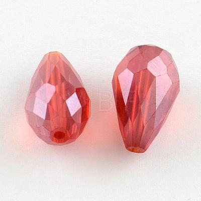 AB-Color Plated Teardrop Glass BeadsEGLA-R104-5x7-1