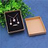 Kraft Paper Cardboard Jewelry Set BoxsCBOX-WH0001-D04-2