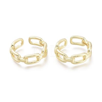 Brass Cuff RingsRJEW-F103-04-G-1