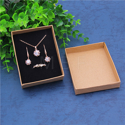Kraft Paper Cardboard Jewelry Set BoxsCBOX-WH0001-D04-1