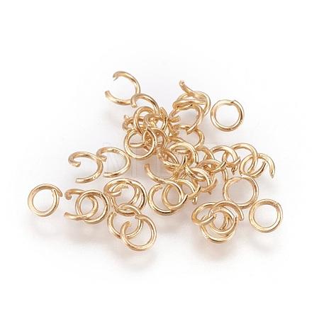 Long-Lasting Plated Brass Open Jump RingsKK-WH0028-01G-B-1