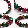 SUNNYCLUE® Natural Tiger Eye Round Beads Stretch BraceletsBJEW-PH0001-10mm-09-4