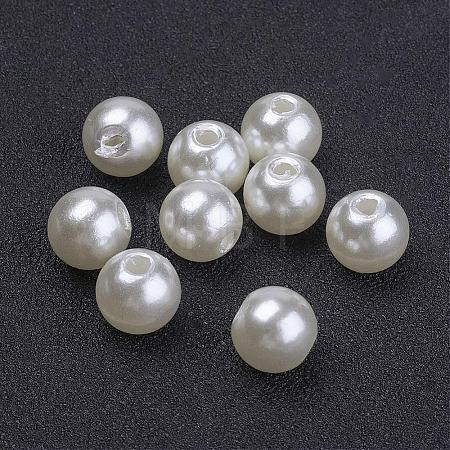 Imitated Pearl Acrylic BeadsPACR-8D-12-1