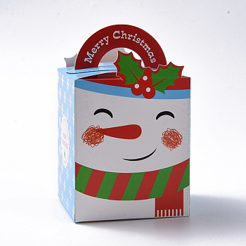 Christmas Theme Candy Gift Boxes, Packaging Boxes, For Xmas Presents Sweets Christmas Festival Party, Snowman Pattern, Colorful, 10.2x8.3x8.2cm