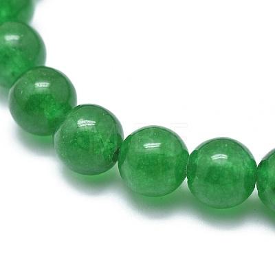 Natural Malaysia Jade Bead Stretch BraceletsBJEW-K212-B-013-1